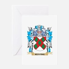 Keating Coat of Arms - Family Crest Greeting Cards