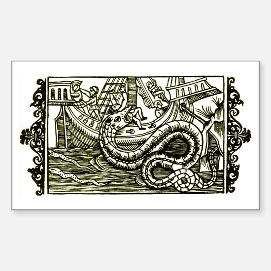 Medieval Sea Sperpent Rectangle Decal