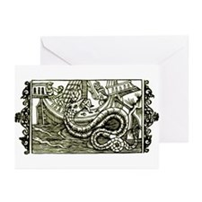 Medieval Sea Sperpent Greeting Cards(Pk of 10)