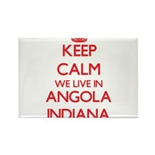 Keep calm we live in Angola Indiana Magnets