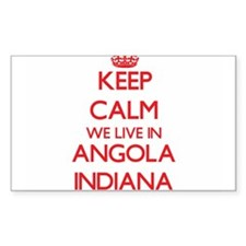 Keep calm we live in Angola Indiana Decal