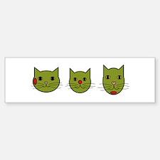 Olive Kitties Bumper Bumper Bumper Sticker