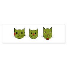 Olive Kitties Bumper Bumper Sticker