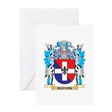 Keenan Coat of Arms - Family Crest Greeting Cards