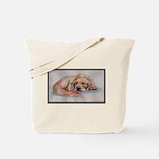 Sleeping Golden Retriever Tote Bag