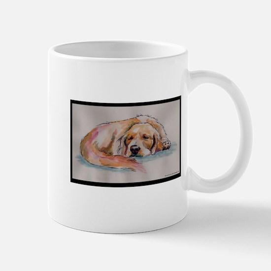 Sleeping Golden Retriever Mug