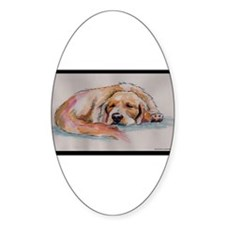 Sleeping Golden Retriever Decal