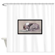 Sleeping Collie Shower Curtain