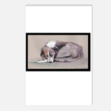 Sleeping Collie Postcards (Package of 8)