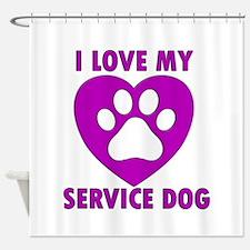 SERVICE DOG Shower Curtain