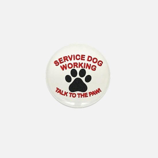 SERVICE DOG PAW Mini Button