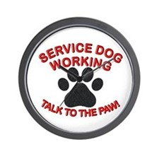 SERVICE DOG PAW Wall Clock