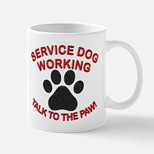SERVICE DOG PAW Mugs
