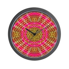 Cute Pink gold Wall Clock