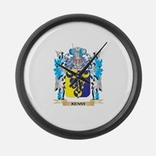Kenny Coat of Arms - Family Crest Large Wall Clock