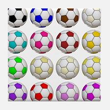 Soccer Balls Tile Coaster