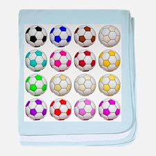 Soccer Balls baby blanket