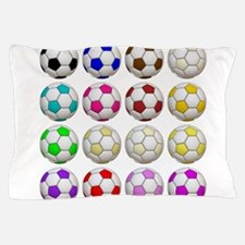 Soccer Balls Pillow Case