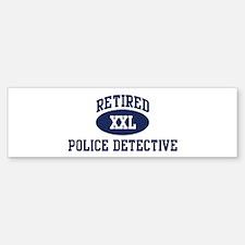 Retired Police Detective Bumper Bumper Bumper Sticker