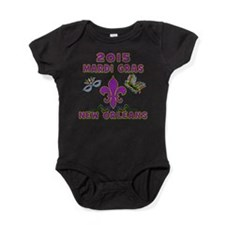 Mardi Gras 2015 New Orleans Baby Bodysuit