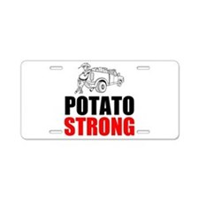 Potato Strong Aluminum License Plate
