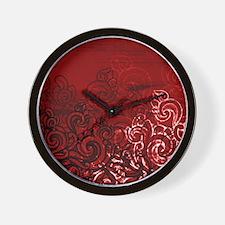 Unique Curls Wall Clock