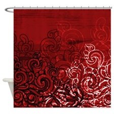 Unique Red and black Shower Curtain