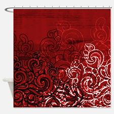 Cute Red black Shower Curtain