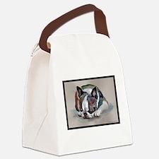 Sleeping Boston Terrier Canvas Lunch Bag
