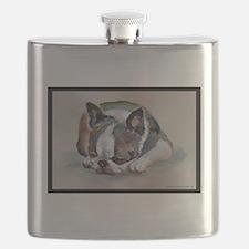 Sleeping Boston Terrier Flask