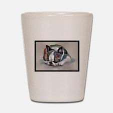 Sleeping Boston Terrier Shot Glass