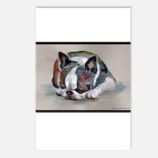 Sleeping Boston Terrier Postcards (Package of 8)