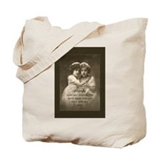 Friends Inspirational Quote Vintage girls Tote Bag