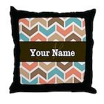 Chevron Tribal Personalized Arrows Throw Pillow