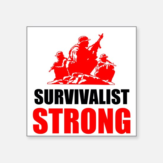 Survivalist Strong Sticker