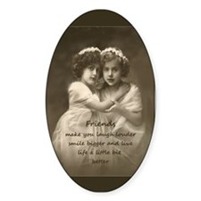Friends Inspirational Quote Vintage Girls Decal