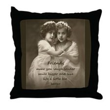 Friends Inspirational Quote Vintage girls Throw Pi