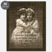 Friends Inspirational Quote Vintage Girls Puzzle