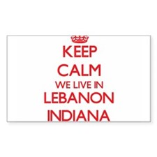 Keep calm we live in Lebanon Indiana Decal