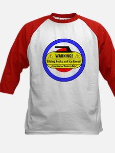 """Warning! Sliding Rocks..."" Kids Baseball Jersey"