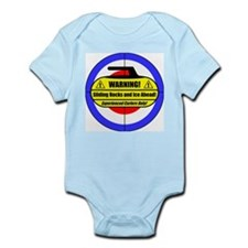 """Warning! Sliding Rocks..."" Infant Bodysuit"