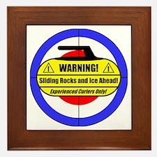 """""""Warning! Sliding Rocks..."""" Framed Tile"""