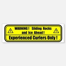 """Warning! Sliding Rocks..."" Bumper Bumper Bumper Sticker"