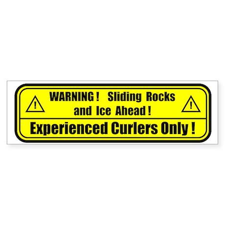 """""""Warning! Sliding Rocks..."""" Bumper Sticker"""