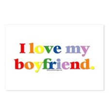 I love my boyfriend. Postcards (Package of 8)