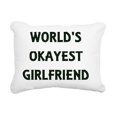 Unique Worlds okayest mom Rectangular Canvas Pillow