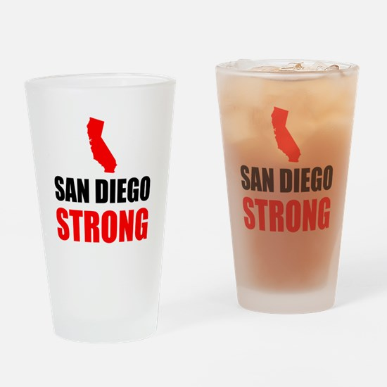 San Diego Strong Drinking Glass