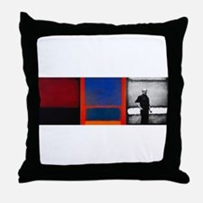 ROTHKO 2 PAINTS AND SELF Throw Pillow