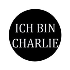 "Charlie in German 3.5"" Button"