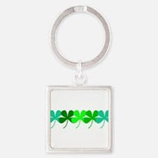 Irish 4 Leaf Clovers Designer Keychains